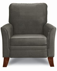 Gunmetal fabric     An artful, sculptured shape with a sophisticated flair, Riley is perfectly at home paired with your contemporary sofa or left to showcase a corner entirely on its own. Comfortable too, you'll appreciate the inviting curves and luxurious cushioning.
