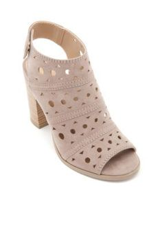 New Directions Taupe Hayden Chop Out Sandal