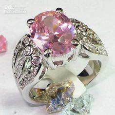 Stunning .925 Pink Topaz Ring.