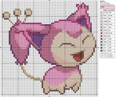 Thrilling Designing Your Own Cross Stitch Embroidery Patterns Ideas. Exhilarating Designing Your Own Cross Stitch Embroidery Patterns Ideas. Beaded Cross Stitch, Cross Stitch Charts, Cross Stitch Embroidery, Cross Stitch Patterns, Pokemon Skitty, Pikachu, Pokemon Chart, Pokemon Cross Stitch, Modele Pixel Art
