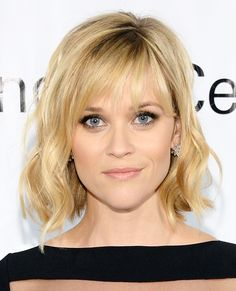 Reese Witherspoon's signature wispy style is a low-maintenance option for beginners.