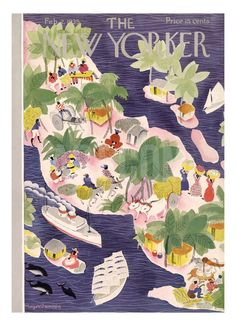 The New Yorker Cover - February 2, 1935 Regular Giclee Print by Roger Duvoisin at Art.com