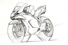 Motorcycles sketches by Clément Lagneau at Coroflot.com