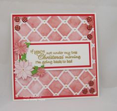 Under My Tree - created using a stamp from the  Yuletide range from Bee Crafty