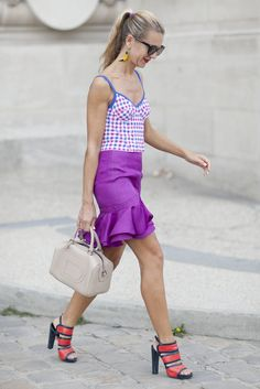 You can count on Natalie Joos to have fun with her fashion.                   Image Source: Greg Kessler