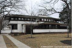 Hiram Baldwin House. 1909. Kenilworth, Illinois. Prairie Style. Frank Lloyd Wright.