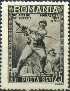 Марка: Bayonet attack c. 1917 (Румыния) Years of Romanian Army) Mi:RO 1209 Stamp Collecting, Postage Stamps, The 100, Army, Military, Baseball Cards, My Love, Collection, Vintage