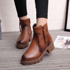 Sale 18% (32.91$) - WomenBoot Keep Warm Autumn Winter Comfortable Casual PU Cotton Short Boots