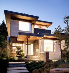The Kerchum Residence is sustainable modern home design by Natural Balance Home Builders situated in Vancouver, British Columbia.