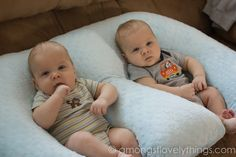 Twin Essentials--good advice about breastfeeding pillows...