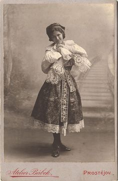 Girl In Moravian Folk Costume by josefnovak33, via Flickr