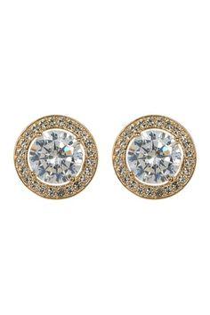 Crystal Halo Stud Earrings by NADRI on @nordstrom_rack