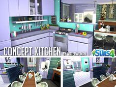 Concept kitchen by Waterwoman at Akisima • Sims 4 Updates