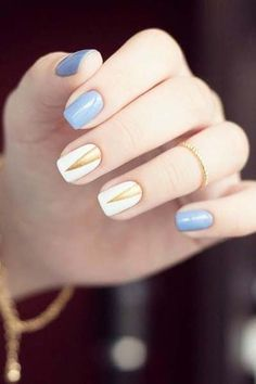 Simple nail art for summer 2016
