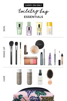 Packing your carryon toiletry bag doesnt have to be complicated. Ive put together a guide of all the rules and am sharing my favourite packing picks. Travel Packing Checklist, Travel Bag Essentials, Vacation Packing, Packing Lists, Makeup Bag Essentials, Carry On Makeup, Whats In My Makeup Bag, Carry On Toiletries, Packing Toiletries