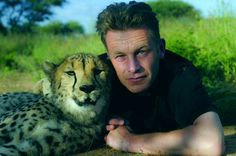 chris packham & cheetah