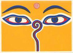 Eyes of Bodnath, based on Boudhanath Stupa, Kathmandu (http://www.sacred-destinations.com/nepal/kathmandu-boudhanath-stupa)