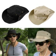 High Quality Bucket Hat Boonie Hunting Fishing Outdoor Wide Cap Brim  Military for Men Women Male sun Fisherman hats -in Bucket Hats from Men s  Clothing ... 25cc8d167