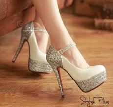 sparkly silver high heels - Google Search