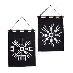 Vegvisir and Aegishjalmur Tapestry Bundle in Black Rollup Banner Design, Web Banner Design, Web Banners, Design Design, Graphic Design, Viking Baby, Viking Life, Pagan Decor, Pagan Altar