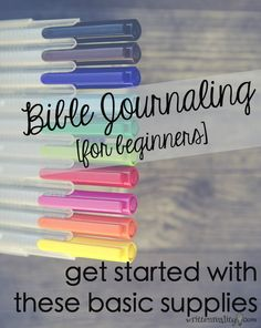 Looking for ways to expand your Bible journaling or need help on where to start? Here are the basic Bible journaling supplies to get you started