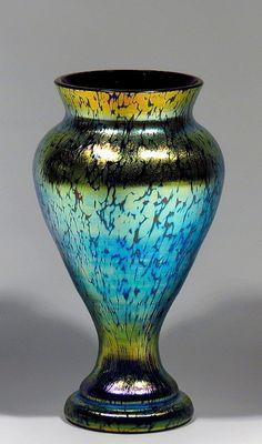Loetz   Rubin Papillion Art Glass Vase.
