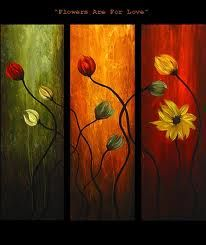 Abstract art by Osnat Tzadok - triptych floral painting Triptych Art, Canvas Painting Landscape, Paintings I Love, Modern Paintings, Floral Paintings, Modern Artwork, Abstract Photography, Flower Art, Art Flowers