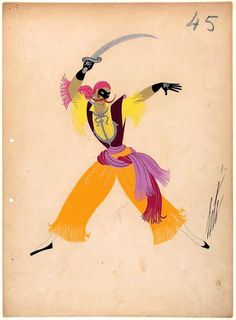 Erte - The Pirates Inspiration Art, Art Inspo, Art Deco Artwork, Erte Art, Christian Marclay, Art Deco Artists, Frank Stella, Creative Costumes, Japanese Artists