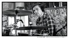 Photo 283 of 365  Zac Hanson 2012 - Tracking Studio Album #6 - El Paso TX	    Zac, at the drums, with a handlebar mustache, really what else can we say.    #Hanson #Hanson20th