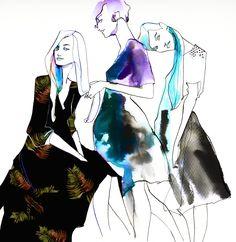 Grooming by Eili-Kaija Kuusniemi — Agent Pekka Creative Illustration, Hand Illustration, Old Maps, Natural Wonders, Illustrators, Watercolor, Artist, Nature, Anime