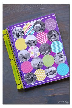 Back to school notebook photo collage
