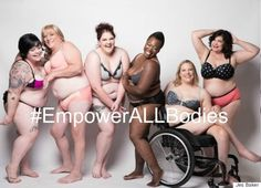 """In an open letter to Lane Bryant CEO Linda Heasley, Baker explained why she was unimpressed by #ImNoAngel: ""You've presented the 'ideal' plus body: hourglass, perceivably 'healthy', cellulite-free, able bodied, cis-gender, and 'conventionally' beautiful.""  Baker gathered a group of diverse models, including herself, and worked with photographer Jade Beall to show what a truly diverse plus-size underwear campaign would look like."""