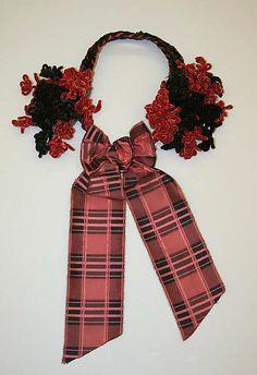 #Headdress 1859-60  #Fashion #New #Nice #PlaidDress #2dayslook  www.2dayslook.com