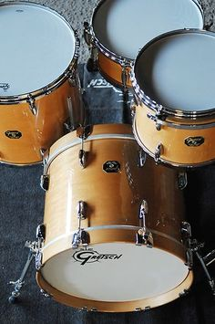 Gretsch USA Custom 3pc Gloss Millennium Maple Drum Set USA Made New w Video | eBay