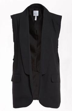 Leith Sleeveless Blazer available at #Nordstrom. I also just found a Leith Camoflage jacket for $78.00, so cute along with an oversize white tee for $34.00