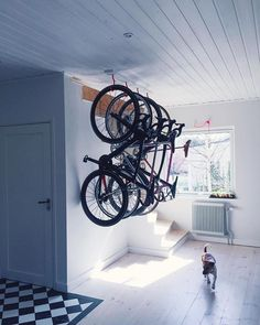Are you looking to make your garage space a little less cluttered? If so, read on to learn about the top DIY garage storage ideas Bike Storage Home, Bicycle Storage, Garage Storage, Bike Storage Living Room, Bicycle Hanger, Bike Hooks, Garage Velo, Garage Bike Rack, Bike Storage Solutions