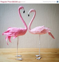 24hrs flash sale Stuffed Flamingo sewing by AtelierCaroline