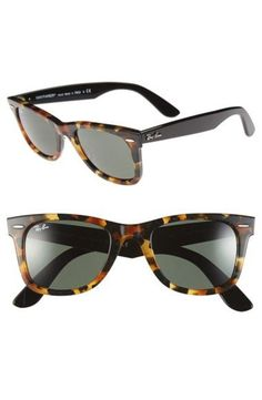 'Classic Wayfarer' 50mm Sunglasses