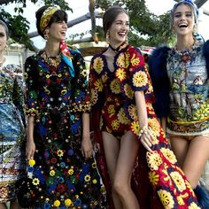 Eschewing publicity and banning all paparazzi, Italian label Dolce & Gabbana showcased its couture collection for the Fall/Winter 2014/2015 season in a private setting on the island of Capri in Italy. Models were transported to from the water before traversing through the seated crowd, with male models dressed like deckhands as ushers.