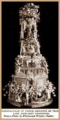The Wedding Cake of Prince Adolphus of Teck and Lady Margaret Grosvenor.