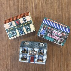 Little houses for father's day, classic village additions including pubs and butchers!  #alisongardiner #theredlion #littlehouses #fathersday #giftideas #theanchor #pub #butchers #village #finebonechina #madeinengland #collectables