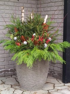 Christmas All Seasonal Planters Decorating On Pinterest
