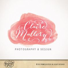 Business Logo, artistic brush strokes watercolor for photographers