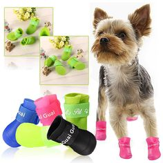 Great deals for this awsome  Yorkie Boots Size M   Check it out here http://chilicookware.myshopify.com/products/brand-new-cute-portable-dog-rain-boots-slip-waterproof-pet-boots-rain-shoes-for-dog-size-m?utm_campaign=social_autopilot&utm_source=pin&utm_medium=pin