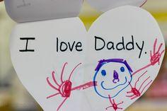 "preschool valentine activities - ""I love Daddy."""