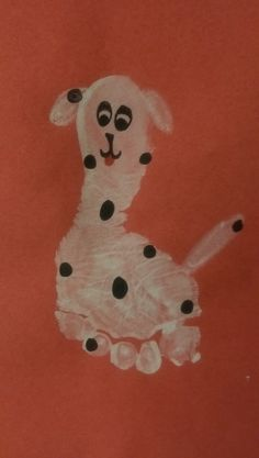 Fire Safety Week Art Activity for Toddlers/Infants! Make your own Dalmatian from their foot print :)