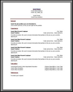 Chronological Resume Template Microsoft Word - http://jobresumesample.com/1833/chronological-resume-template-microsoft-word/