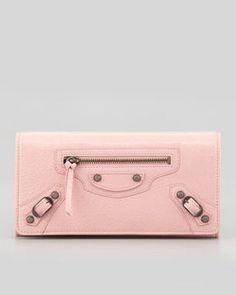 ShopStyle.com: Balenciaga Classic Money Wallet, Sorbet $495.00