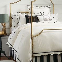 The Emily + Meritt Scallop Duvet Cover + Sham| I'm absolutely in LOVE with this duvet! So very adorable!