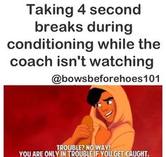This is partially true - problem is my coaches have eyes on the back of their heads haha. They know... Follow @morgan_rasmussen88 on Instagram